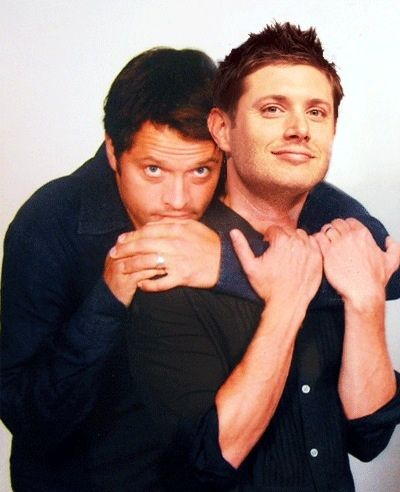 Misha and Jensen | Misha collins, Jensen ackles, Jensen ...
