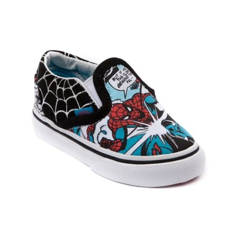 a6890a4943 Shop for Toddler Vans Slip-On Spider-Man Skate Shoe in Black at Journeys  Kidz.