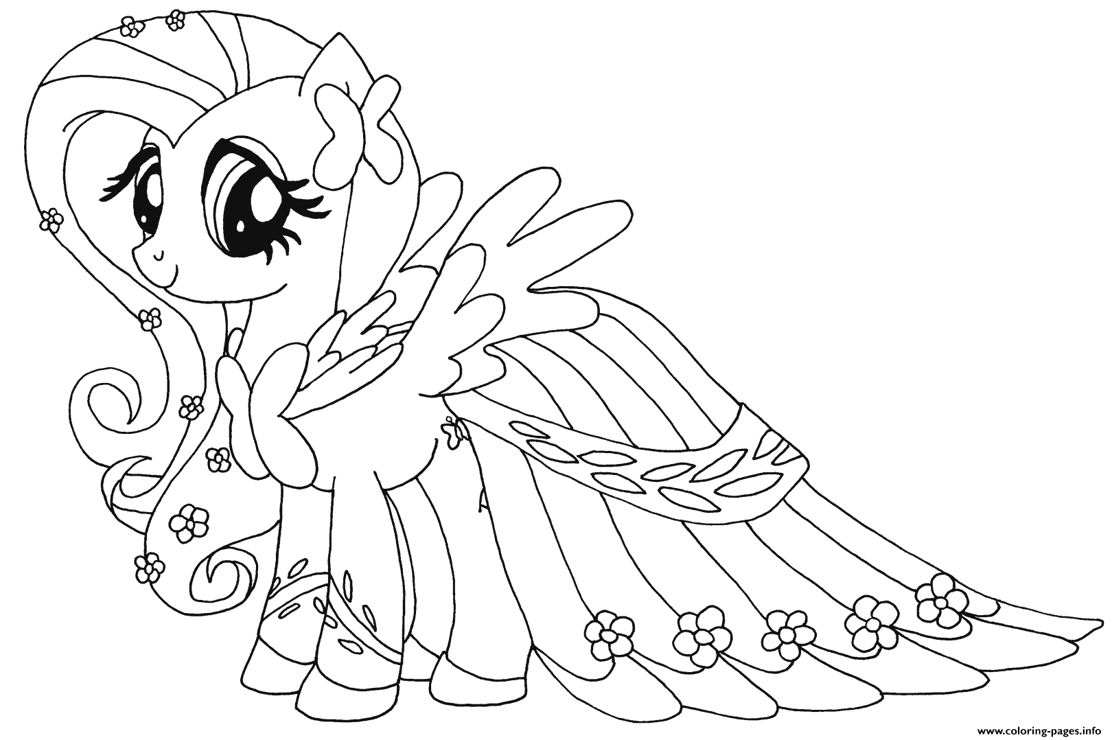 Print Fluttershy My Little Pony Coloring Pages My Little Pony Coloring My Little Pony Drawing Pony Drawing