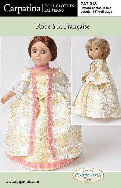 Zeit 18 Puppe Kleidung Muster für die Robe À la | Puppen ...