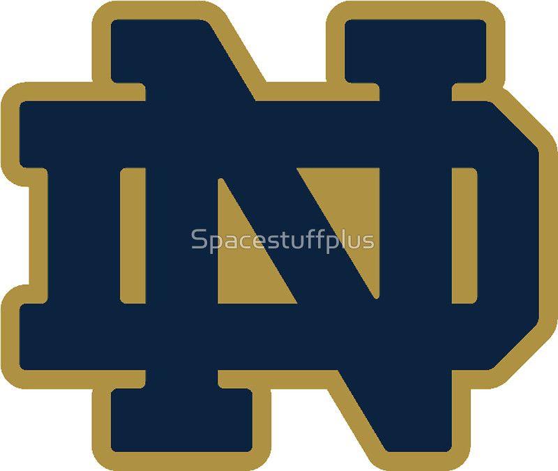 Notre Dame Blue Gold Logo Fighting Irish Logo Notre Dame