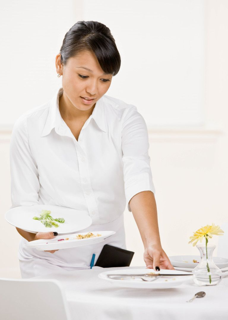Server Tip Clearing The Table Waitstaff Training Tips Server