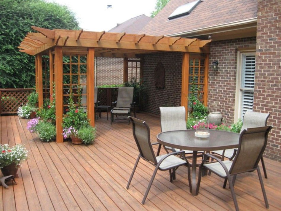 Dining Room Charming Outdoor Kitchen On Wood Deck With Cozy Patio Patio Deck Designs Small Backyard Decks