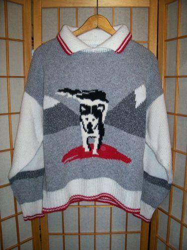 Alaskan Malamute Husky Snow Dog Womens Pullover Sweater Sz ...