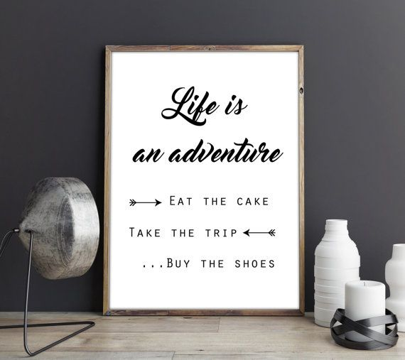 Life is an adventure, Cubicle printables, cubicle accessories ...