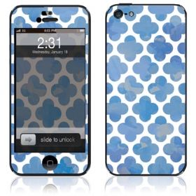 Blue iPhone 5 skin and case