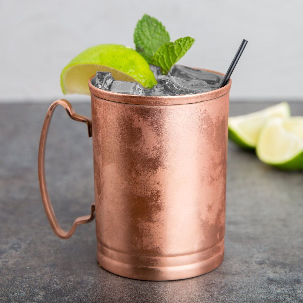 14 OZ  LIBBEY MM-200 FREE SHIPPING USA ONLY MOSCOW MULE COOPER MUG SET OF 4
