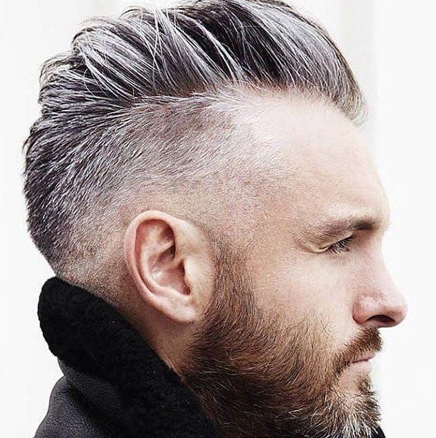 Mode cheveux gris homme