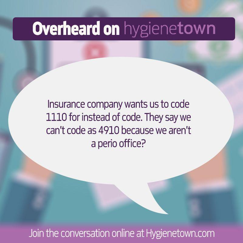 Hygienetown Message Boards Code 4910 1110 Aetna Insurance