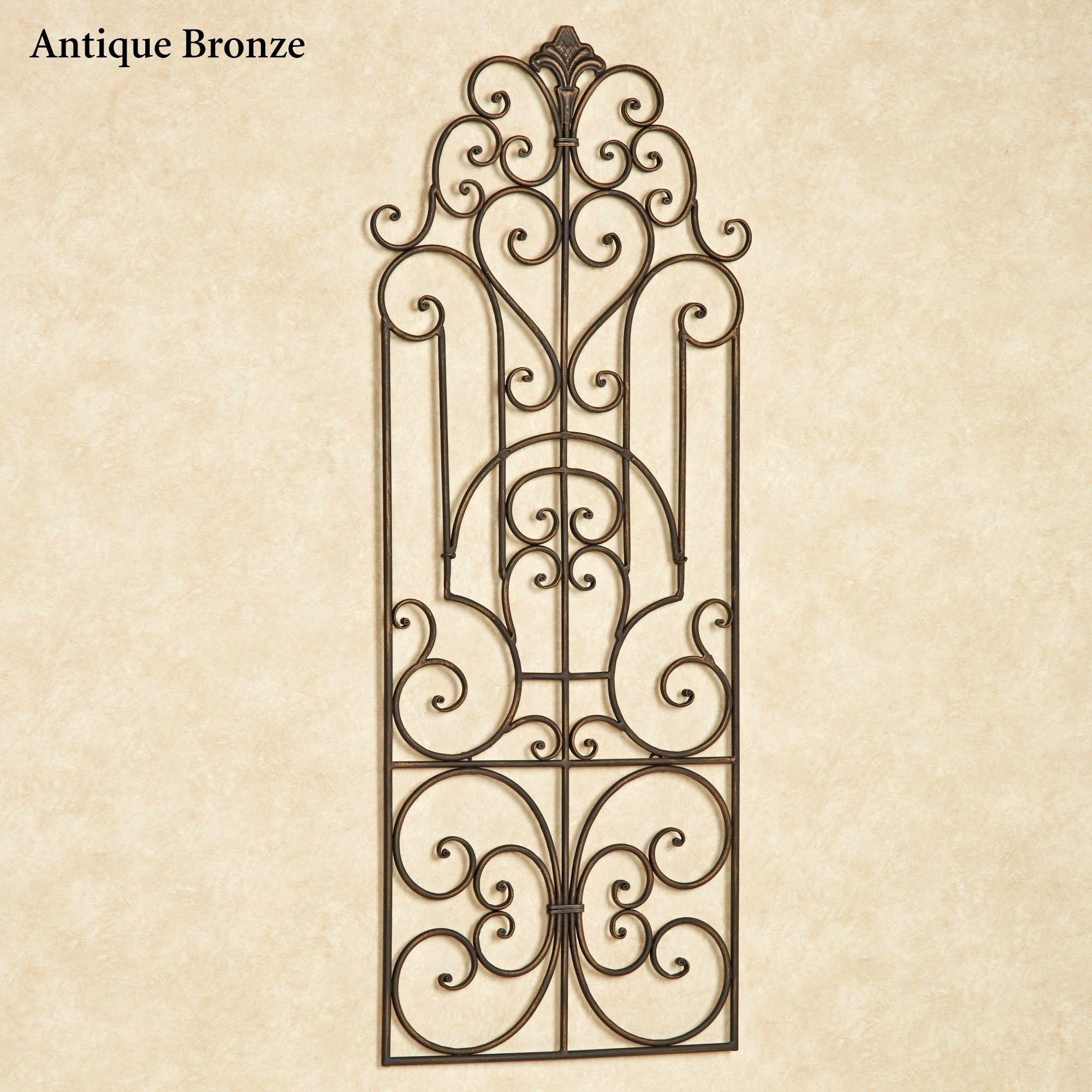 Antonello Indoor Outdoor Wrought Iron Wall Grille ...