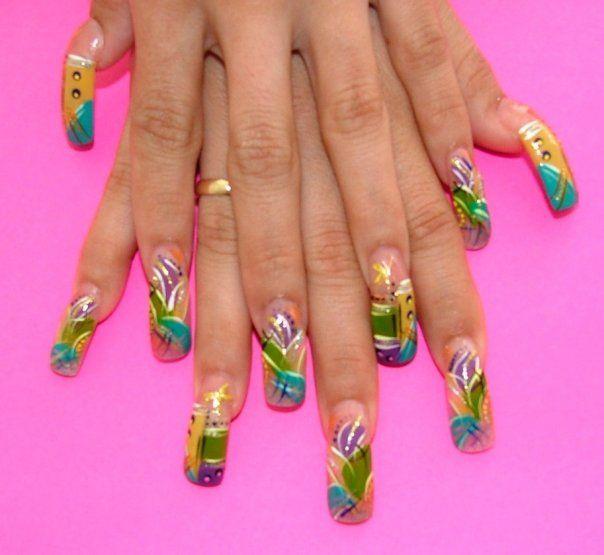 Fake nail ideas rainbow with fake nails design nail ideas nail art for long nailslong nail arts prinsesfo Images