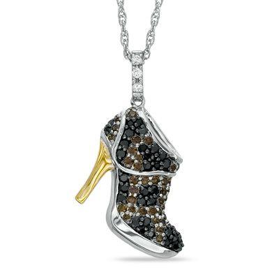 Zales Diamond Accent Sandal High Heel Pendant in Sterling Silver vYlCMjo