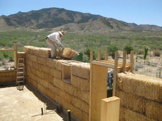 Straw Bale House: A Four-Person Barn Raising