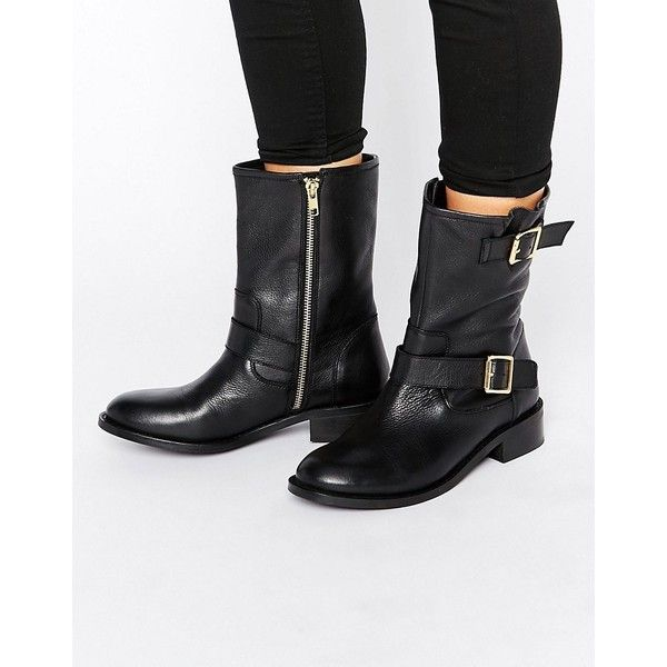 Carvela Leather Biker Boots featuring