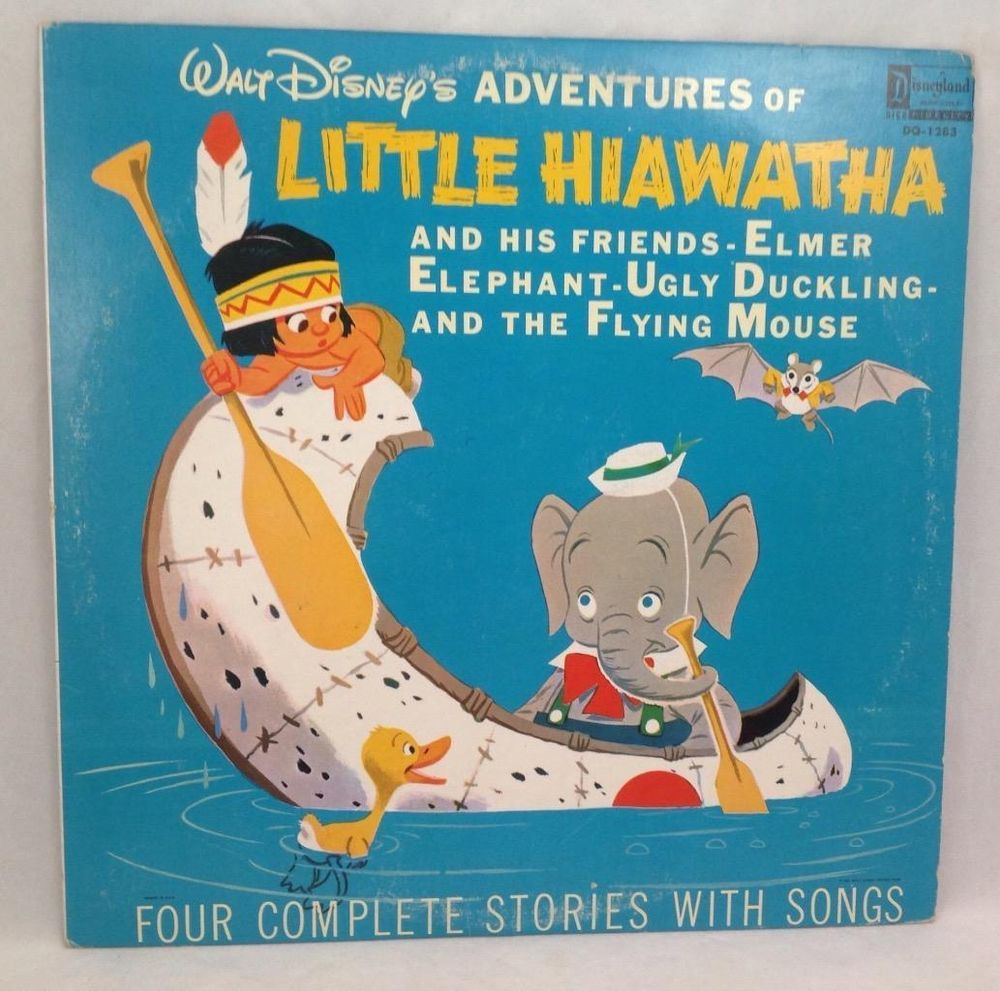 walt disney little hiawatha u0026 friends elmer elephant ugly duckling