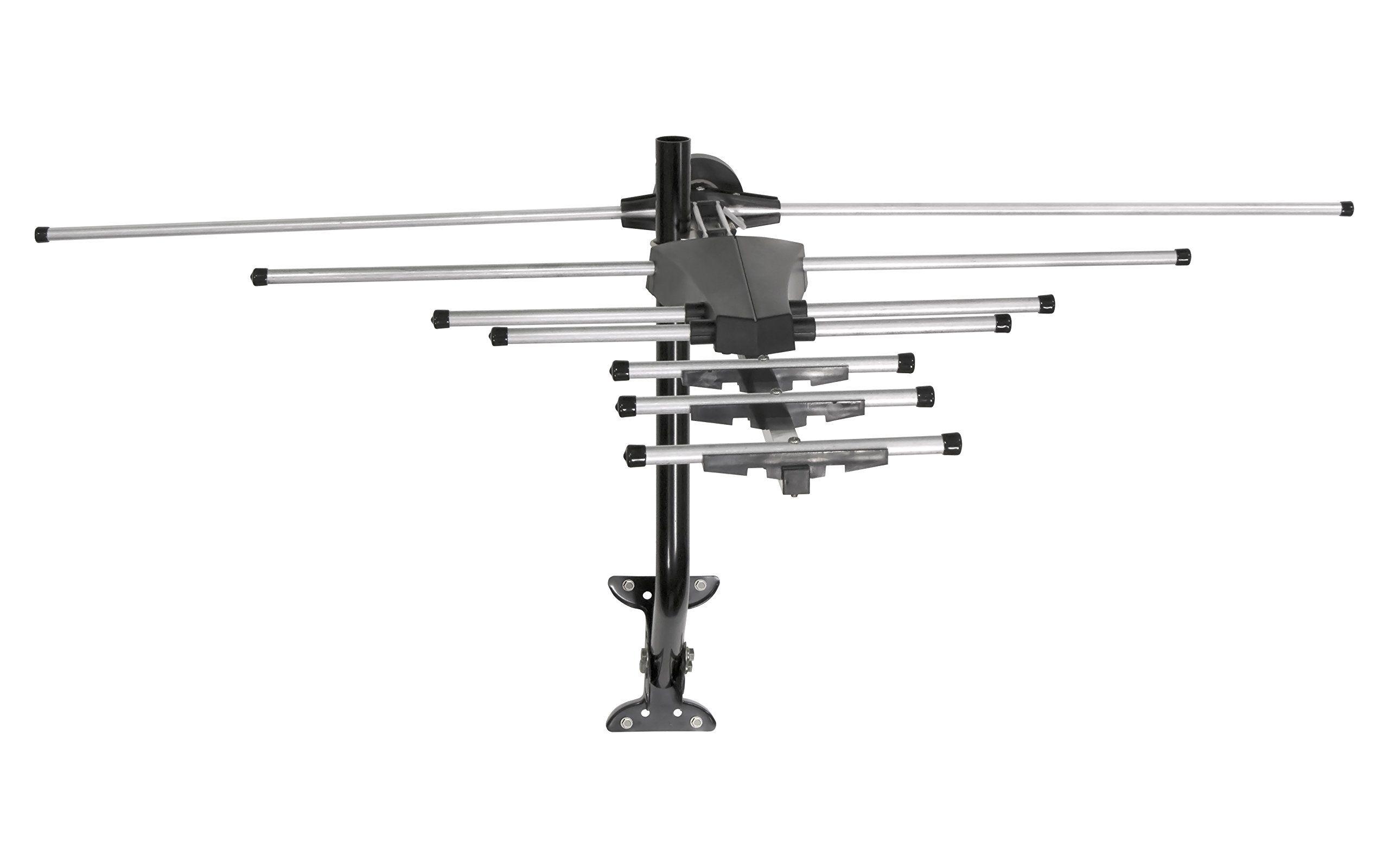 Ge 33685 Pro Outdoor Antenna Long Range Outdoor Attic Yagi Hdtv Antenna For Vhf Uhf Channels 70 Mile R Outdoor Antenna Hdtv Antenna Outdoor Tv Antenna