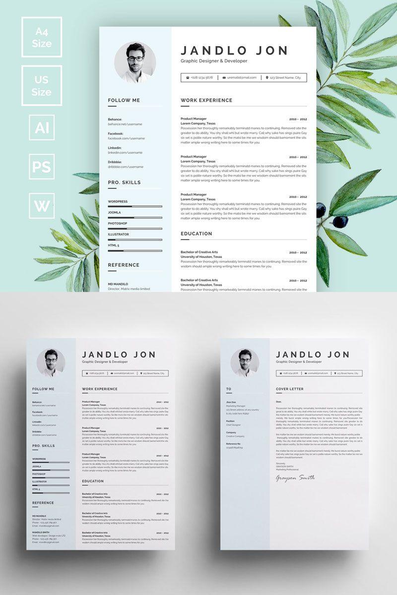 Jandlo Jon Modern Clean Resume Template 73414 Clean