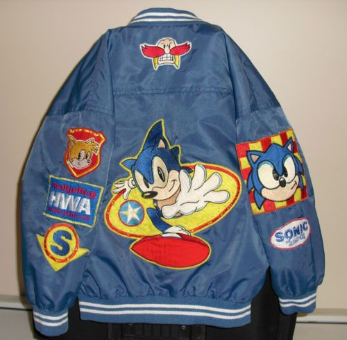 Ultra Rare Uk Vintage Original Old School Sega Sonic The Hedgehog Child S Jacket This Is A Really Neat Retro Sonic The Hedgehog Jacket Only Problem Is Tha Messe