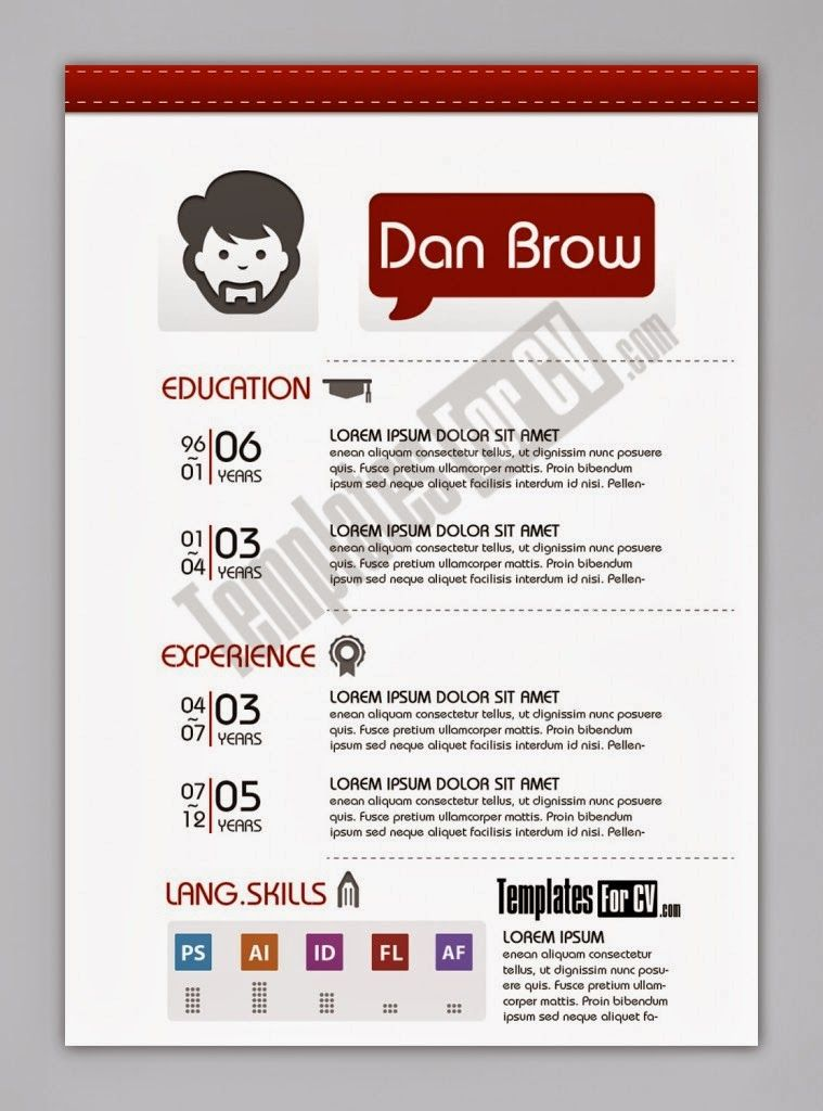 Contoh Cv Format Word Free Download Template Cv Kreatif 30 Desain Brosur  Flyer Template Download Gratisayuprintcoid  Free Unique Resume Templates