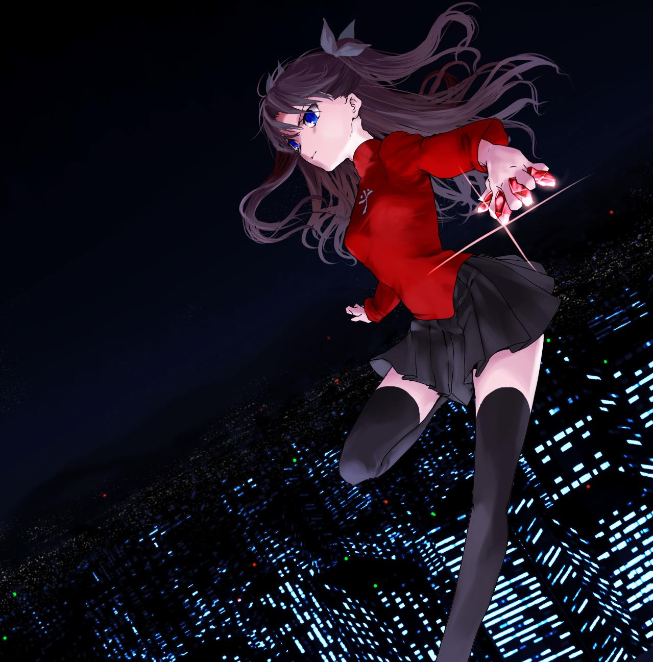 Pinterest Fate Stay Night Tohsaka Rin Anime