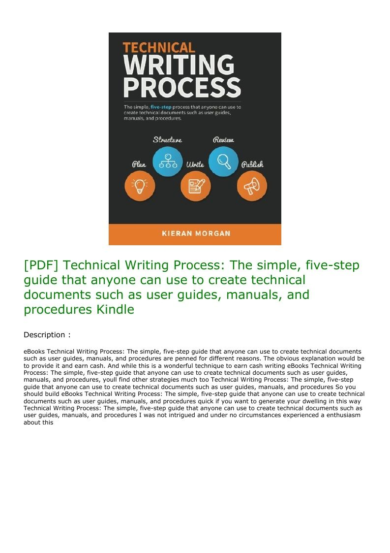 PDF] Technical Writing Process: The simple, five-step guide that