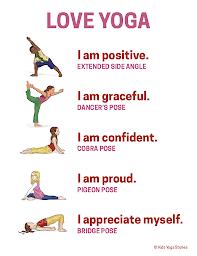 love yoga poster  yoga yoga for kids dancers pose