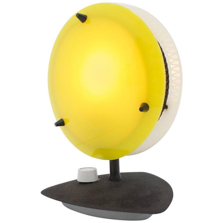 Two colored table lamp in yellow and white, Sonnenkind Table Lamp for Tele Ambiance France 50s. Germany, 1960s. Wordwide shipping.