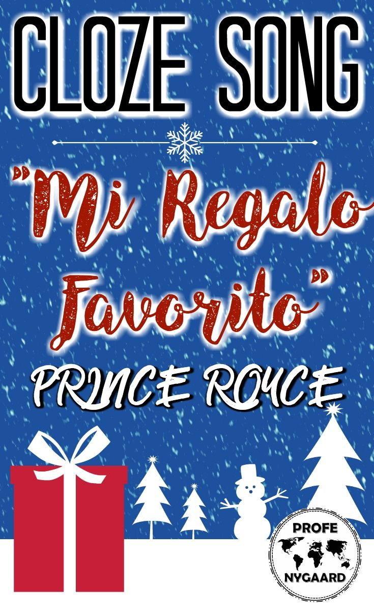 LA NAVIDAD- CLOZE SONG// Regalo Favorito by Prince Royce | SPANISH ...