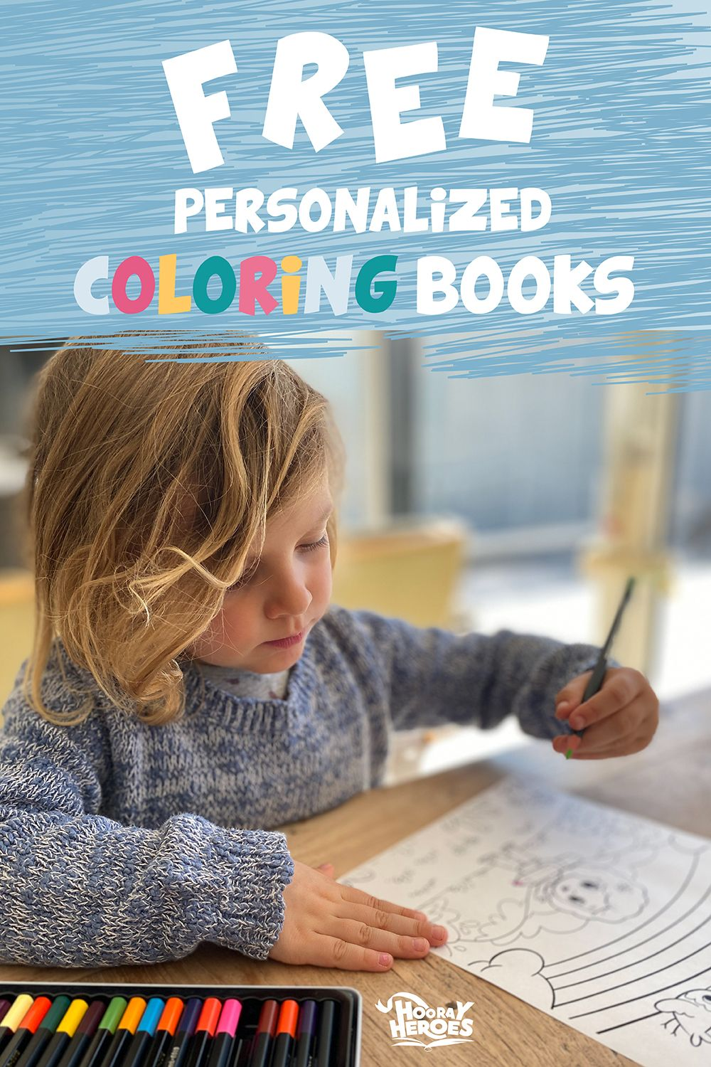 Free Personalized Printables From Hooray Heroes Hooray Heroes Personalized Coloring Book Personalized Books For Kids Hooray Heroes