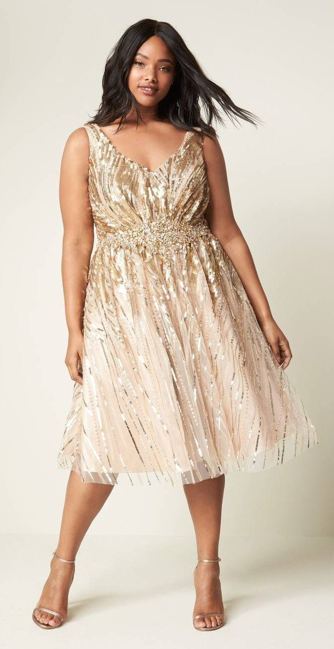 30 Plus Size Sequin Dresses | Plus Size Fashion | Plus size ...