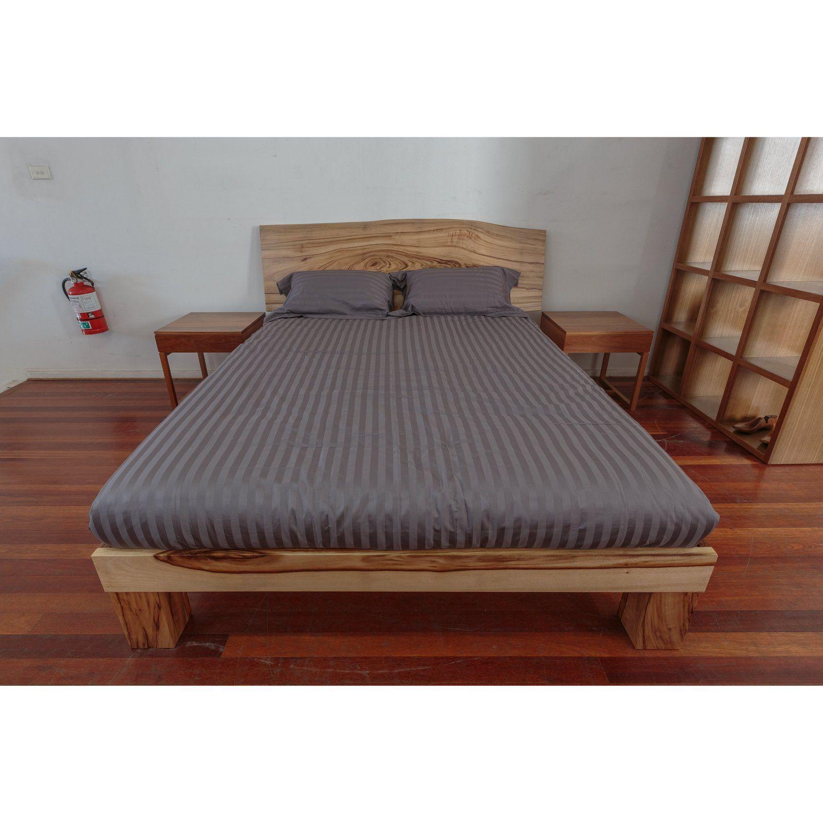 Camphor Laurel Slab Bed Wildwood Designs Furniture in