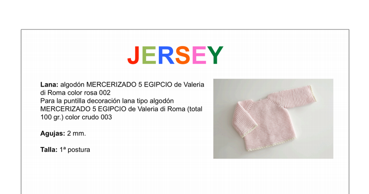 patron completo jersey rosa.pdf | Bebé | Pinterest | Patrones, Rosas ...