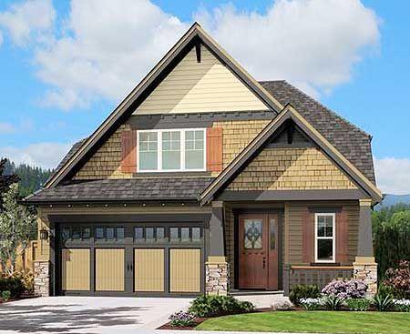 Plan 69010am cozy shingled cottage bungalow for Duplex bungalow design