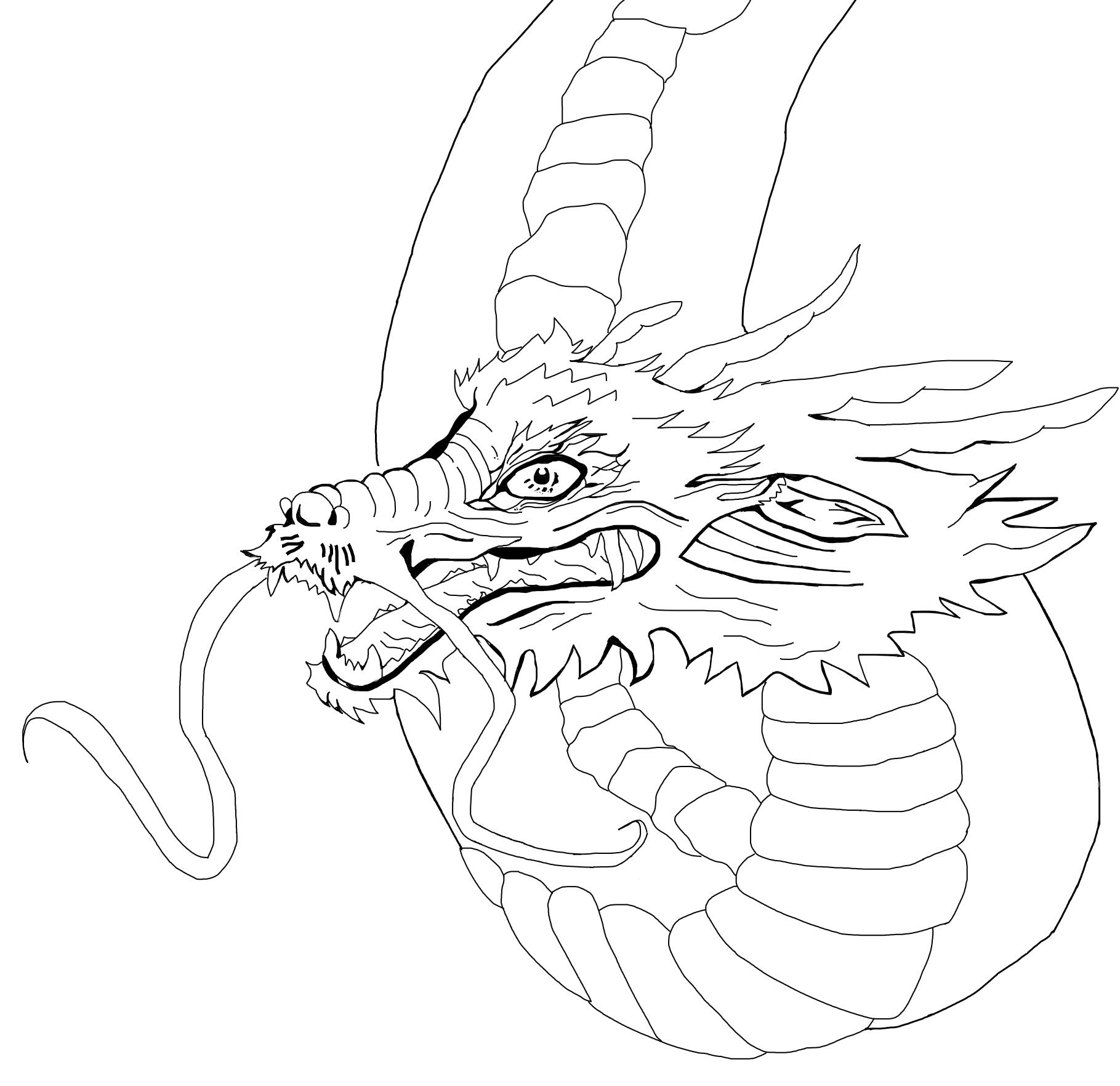 Line Art Dragon : Chinese dragon line drawings drawing pinterest