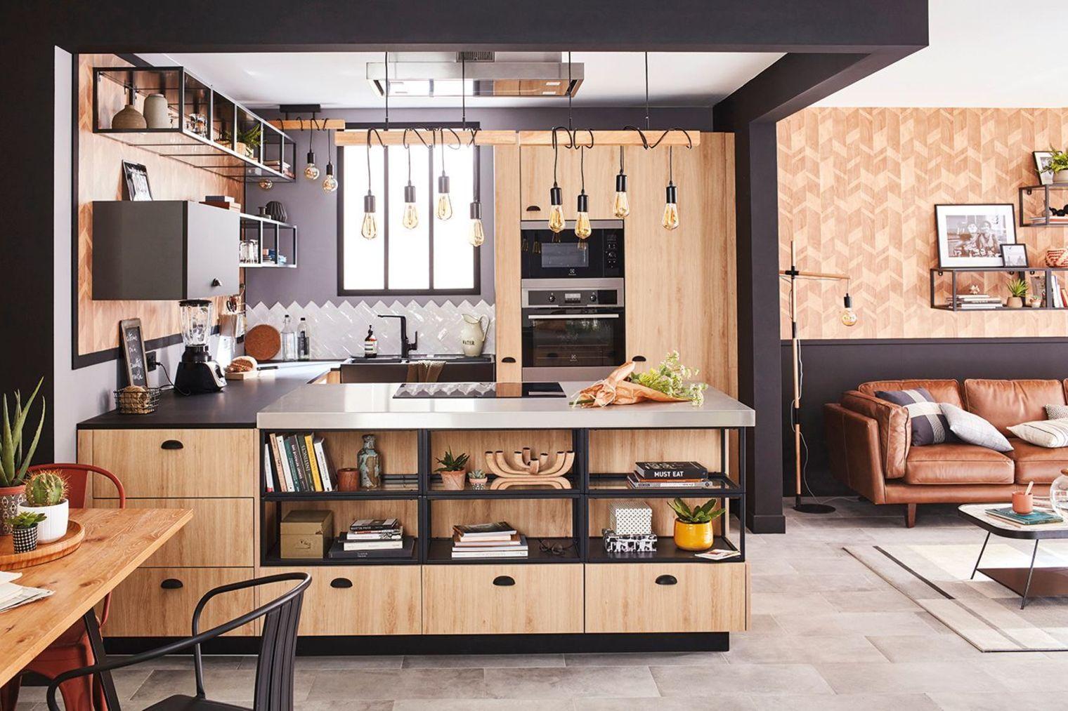 Cuisine En Bois Selection Et Conseils Futur Home Idea Cuisine Bois Cuisine Metal Et Cuisine Noire Et Bois