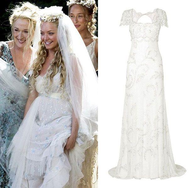 b4a09610463 Sophie s (Amanda Seyfield) wedding dress in Mamma Mia. Get the look with  the Eliza Wedding Dress