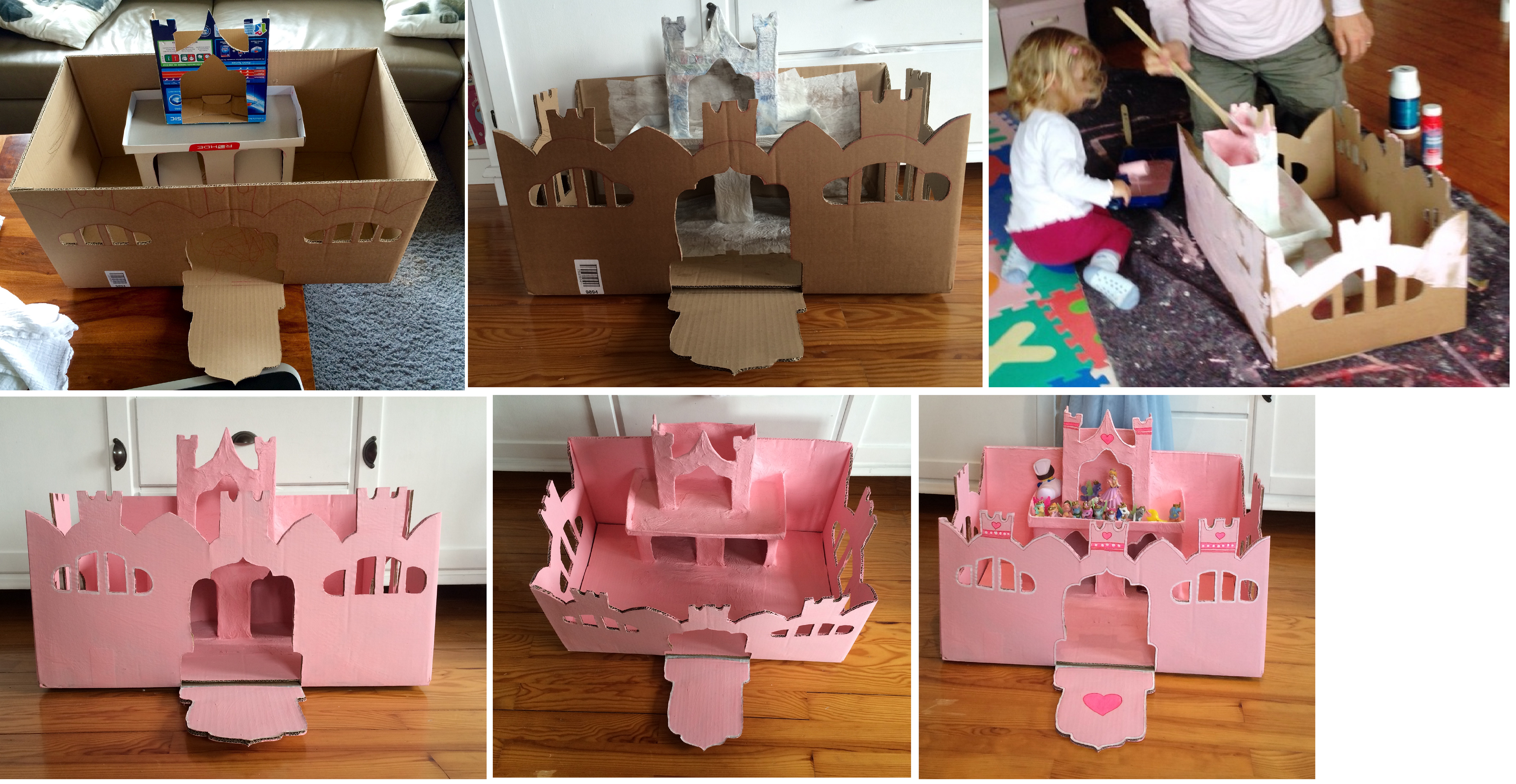 Ein Schloss Aus Karton Schloss Aus Karton Karton