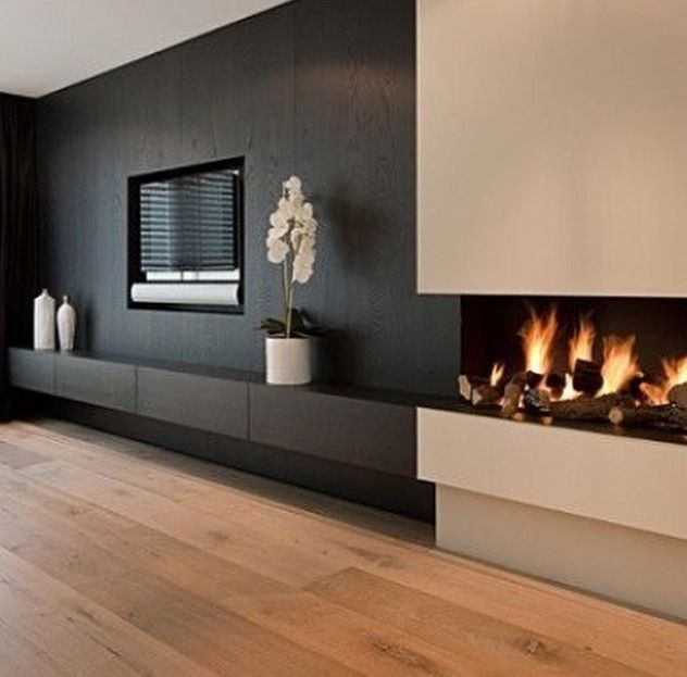 Contemporary fireplace Fireplaces Pinterest Pisos nuevos