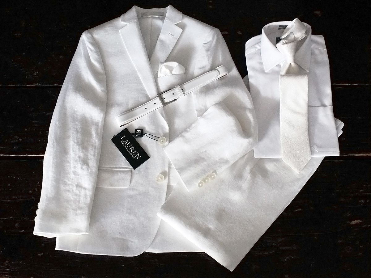 Complete Linen Outfit 21740 Products Suits And White Suits