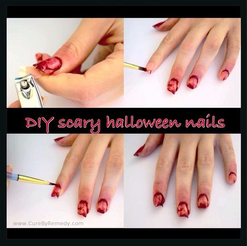 Halloween nails ideas easy simple scary do it yourself pinterest halloween nails ideas easy simple scary solutioingenieria Choice Image