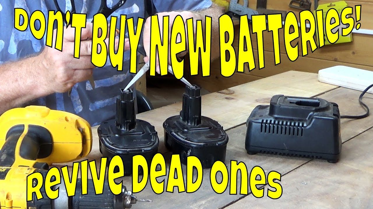 How To Revive A Dead Rechargeable Power Tool Battery Easily Youtube Power Tool Batteries Carpentry Power Tools Power Tool Storage