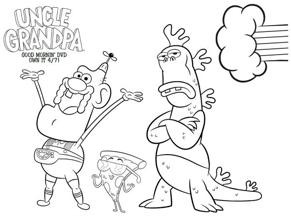 Cartoon Network Uncle Grandpa Free Coloring Page Printable