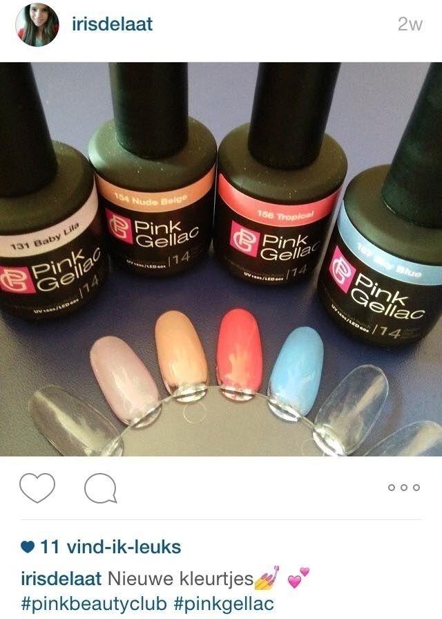 Volg ons ook op instagram of post met #pinkgellac
