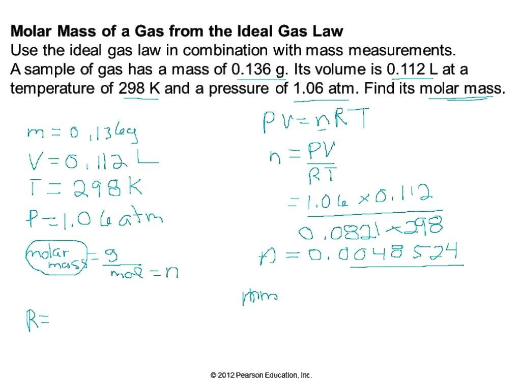 Formula To Determine Molar Volume