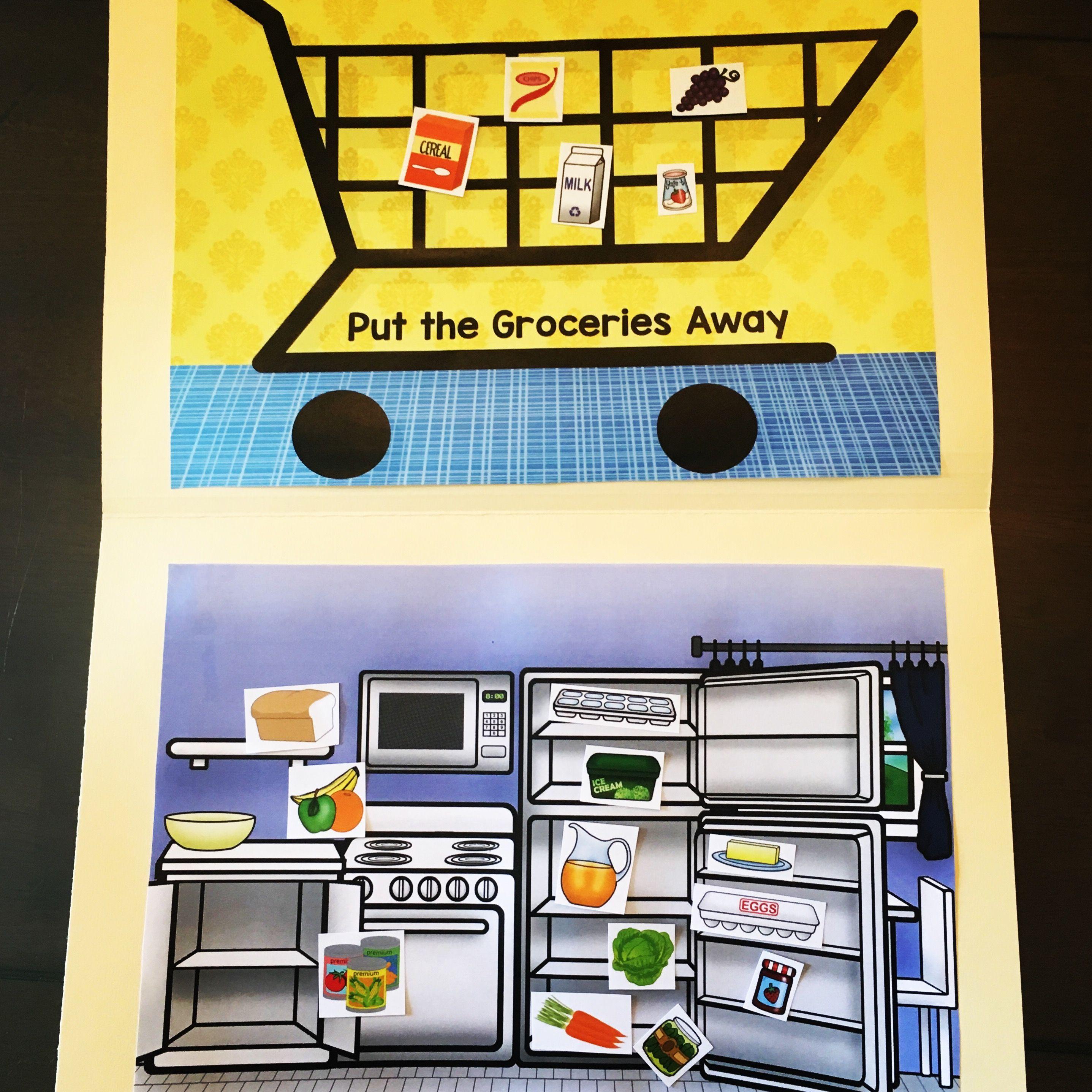 Groceries File Folder Game