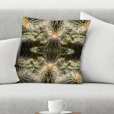 East Urban Home Sears Ruin Needles Throw Pillow Size 14 X 14 In