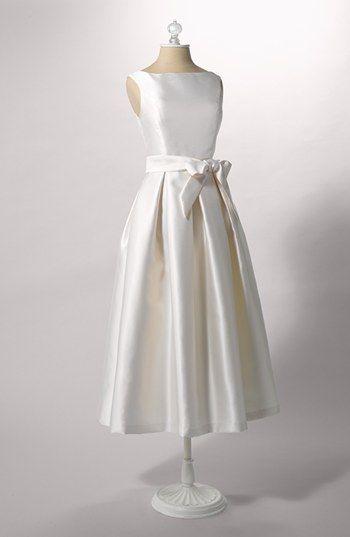 Isaac Mizrahi New York Faille Satin Fit & Flare Dress | Nordstrom ...
