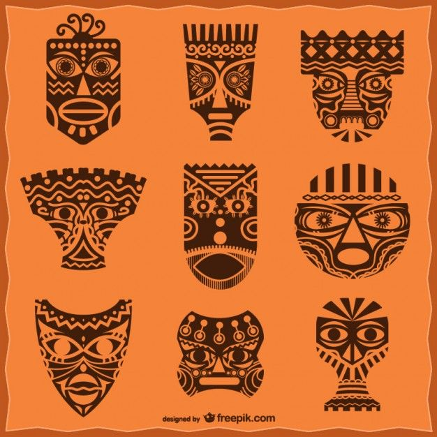 Mascaras Africanas Decorativas African Masks Pack Free Vector | Antifaz | Masques