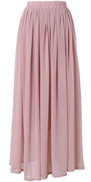 6b4a4c5e4136 Conservative Modest full length pink dusty rose maxi skirt   Mode-sty  tznius fashion style hijab muslim islamic mormon lds jewish christian no  slit