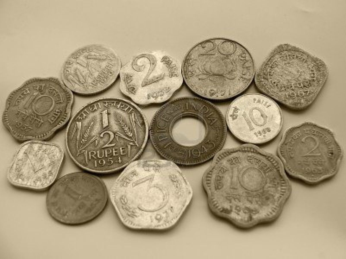 different kinds of coins